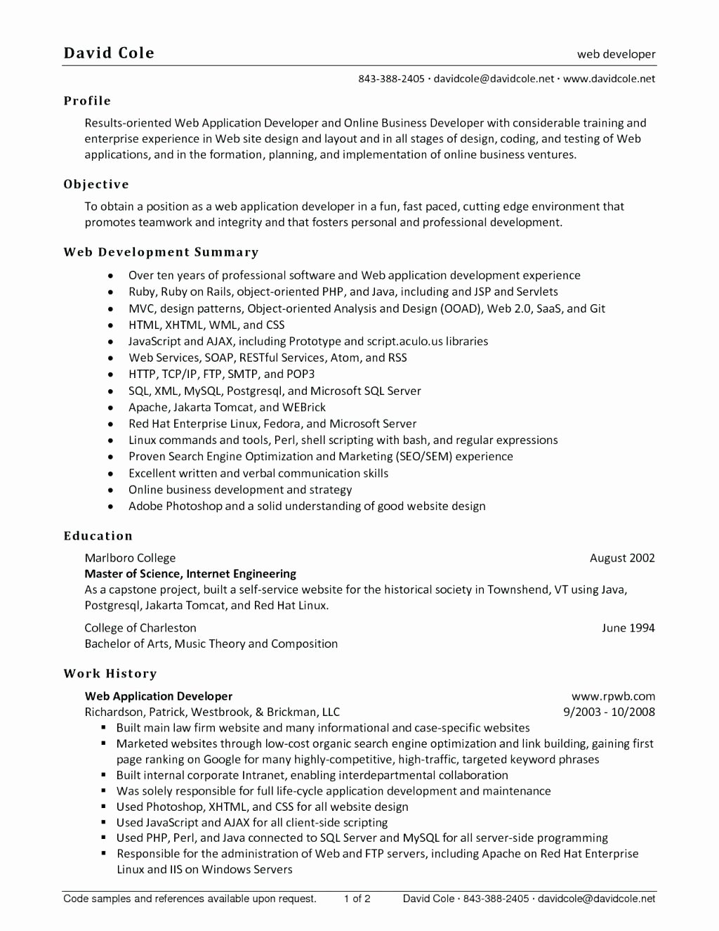 Cover Letter for Java Developer New 10 Web Developer Cover Letter Sample