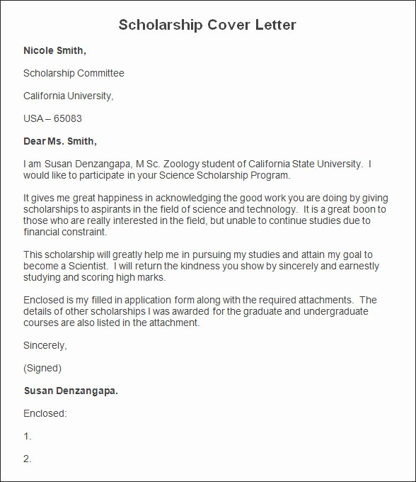Cover Letter for Scholarship Unique Sample Scholarship Cover Letter Scholarship Cover Letter Template