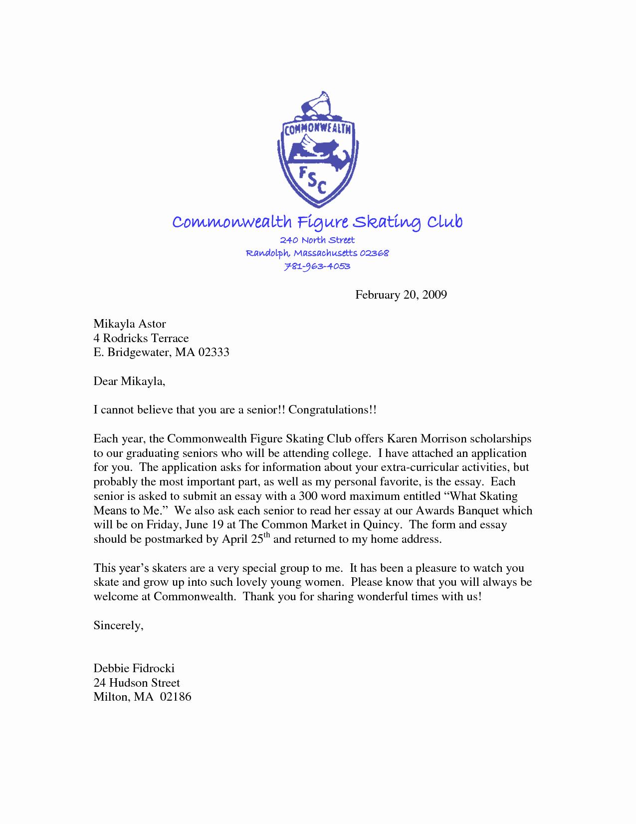 Cover Letter for Scholarship Unique Scholarship Application Cover Letter Sample Resume Template
