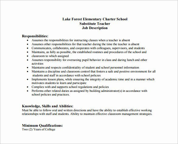 Cover Letter for Substitute Teacher Inspirational How to Write A Good Cover Letter for Substitute Teacher