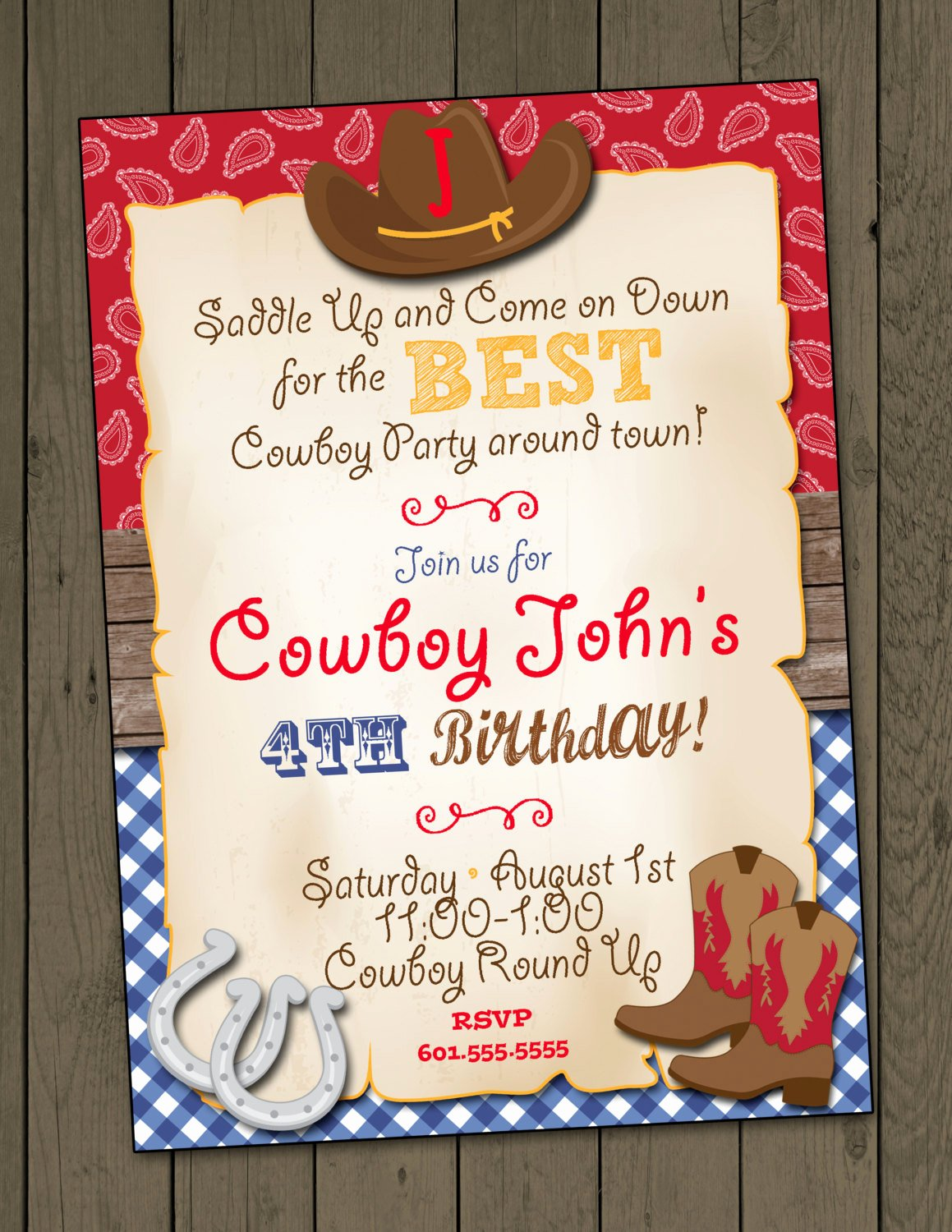 Cowboy Invitations Template Free Best Of Cowboy Birthday Party Invitation Cowboy Invitation Digital