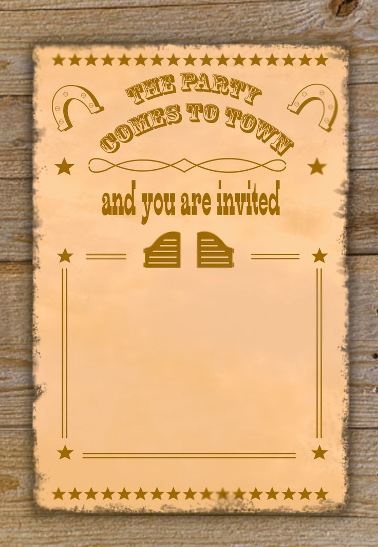 Cowboy Invitations Template Free Best Of Free Cowboy Birthday Invitations – Free Printable Birthday