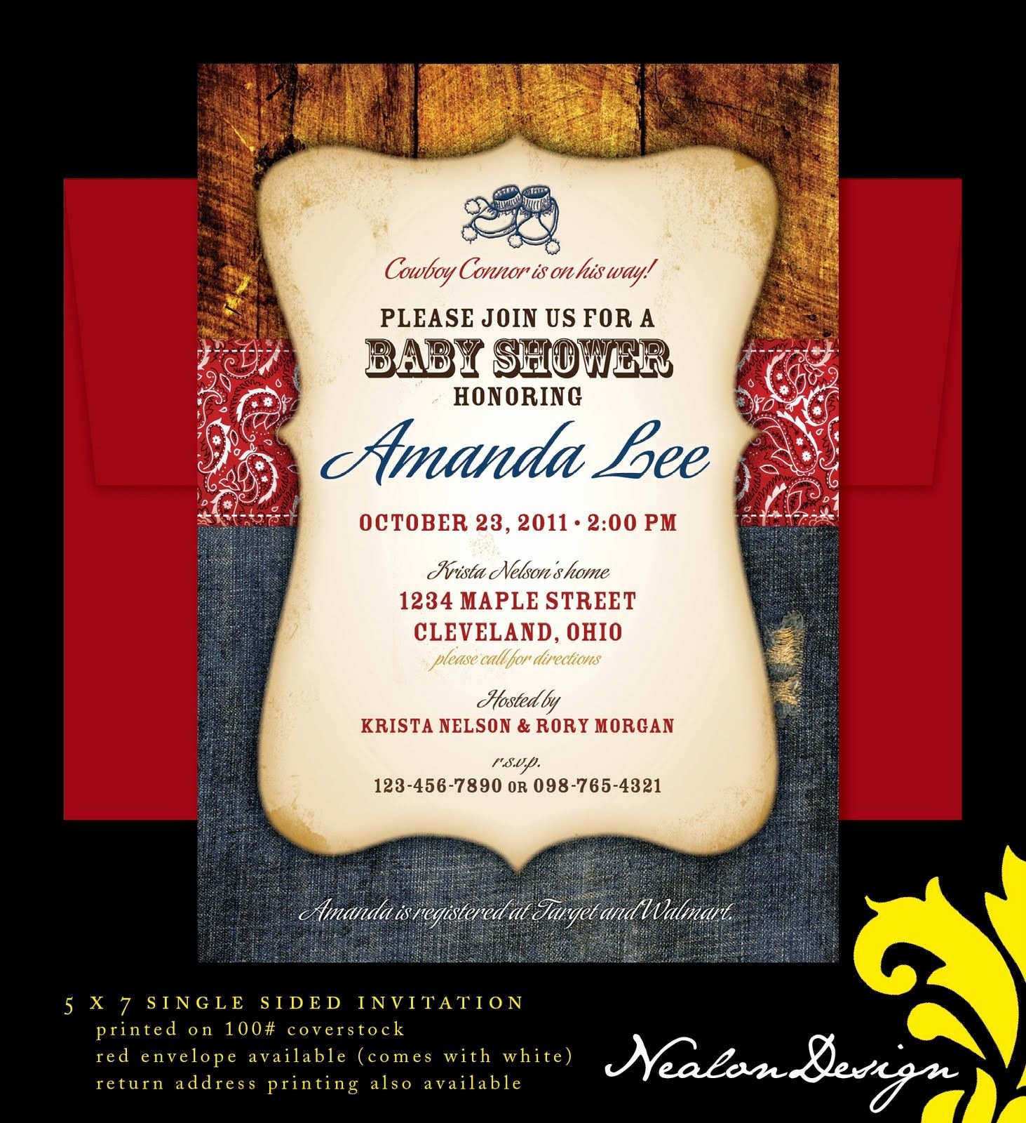 Cowboy Invitations Template Free Inspirational Western Baby Boy Shower Templates