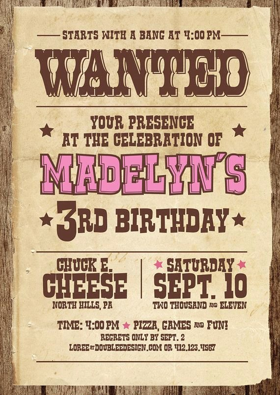 Cowboy Invitations Template Free Lovely Wanted Posters for Invites to Awards Dinner or Celebration