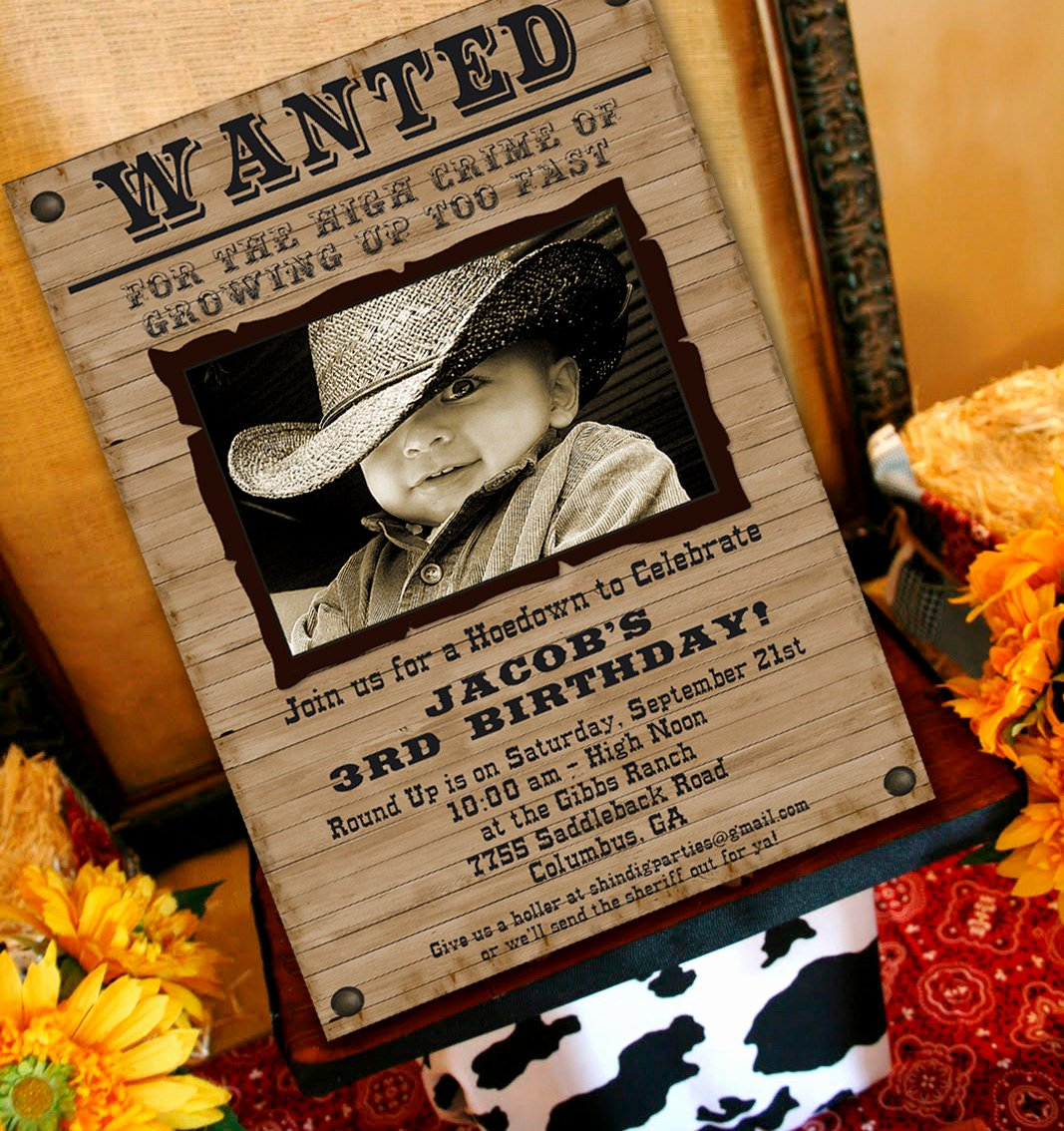 Cowboy Invitations Template Free Luxury Cowboy Party Invitation Cowboy Western by Amandaspartiestogo