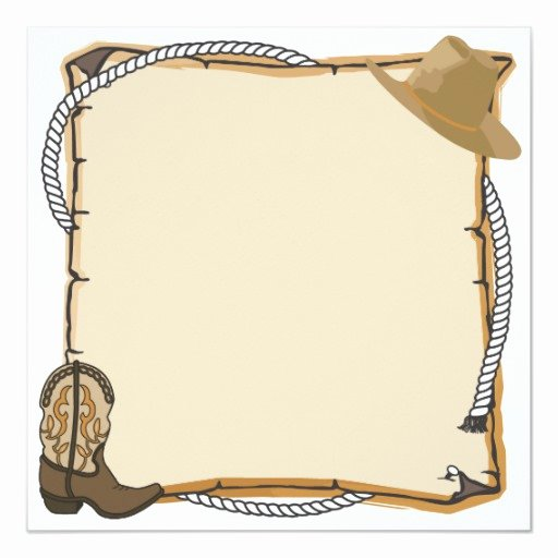 Cowboy Invitations Template Free New Country Western Party Invite Blank