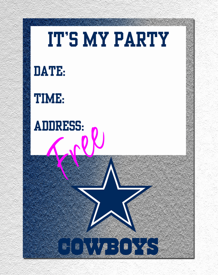 Cowboy Invitations Template Free New Dallas Cowboy Invitation Free Pdf Download