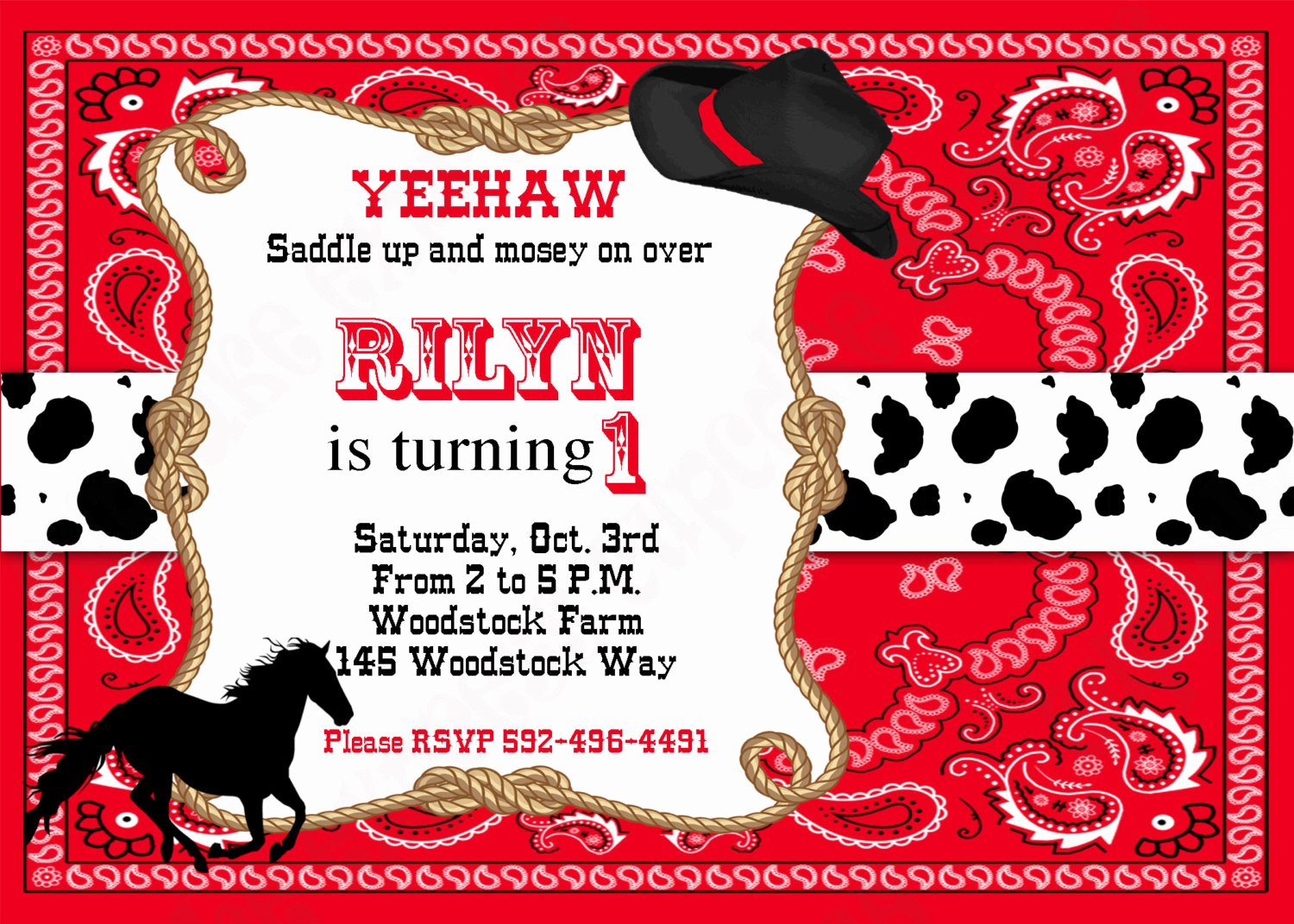 Cowboy Invitations Template Free Unique Free Printable Cowboy Birthday Invitations