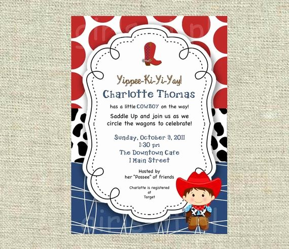 Cowboy Invitations Template Free Unique Items Similar to Baby Shower Cowboy Cowgirl Boy Invitation
