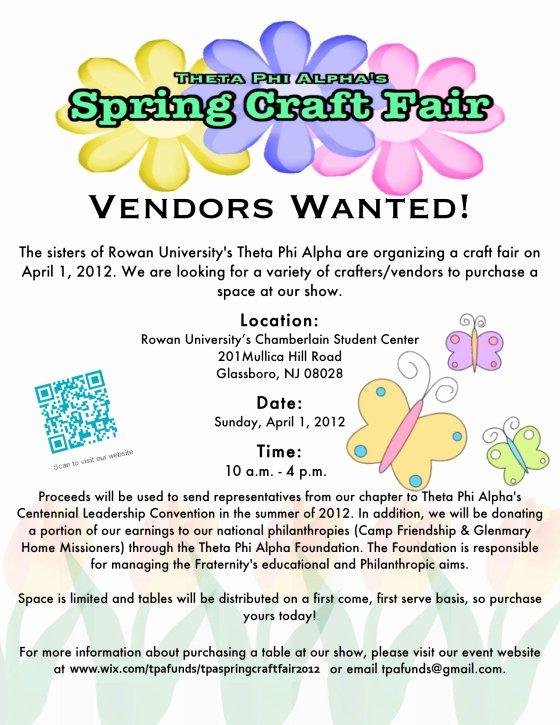 Craft Fair Vendor Application Template Best Of theta Phi Alpha's First Spring Craft Fair