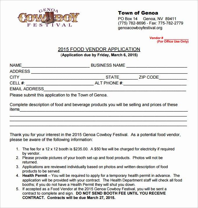 Craft Fair Vendor Application Template Best Of Vendor Application Template – 9 Free Word Pdf Documents Download