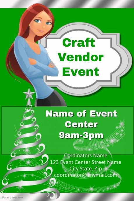 Craft Fair Vendor Application Template Inspirational Christmas Craft Vendor event Template