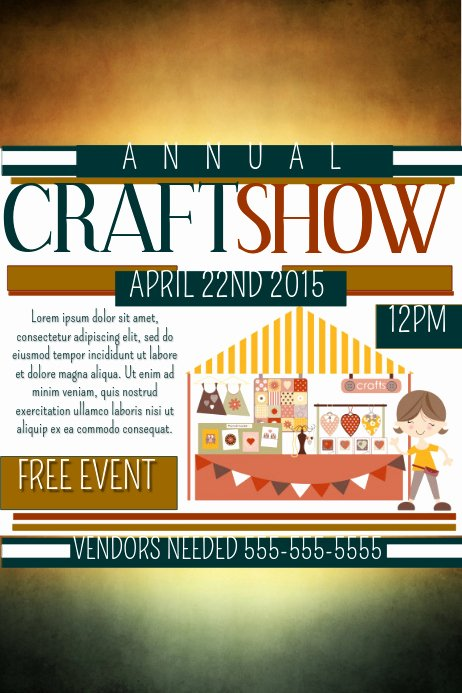 Craft Fair Vendor Application Template Luxury Craft Show Template