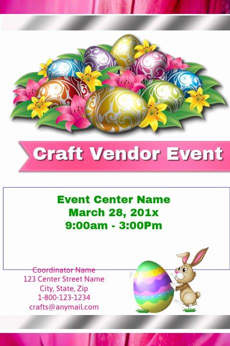 Craft Fair Vendor Application Template New Easter Craft Vendor event Template