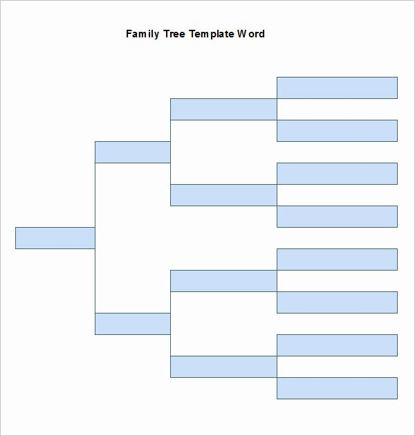 Create Family Tree In Word Elegant Word Family Tree Templates