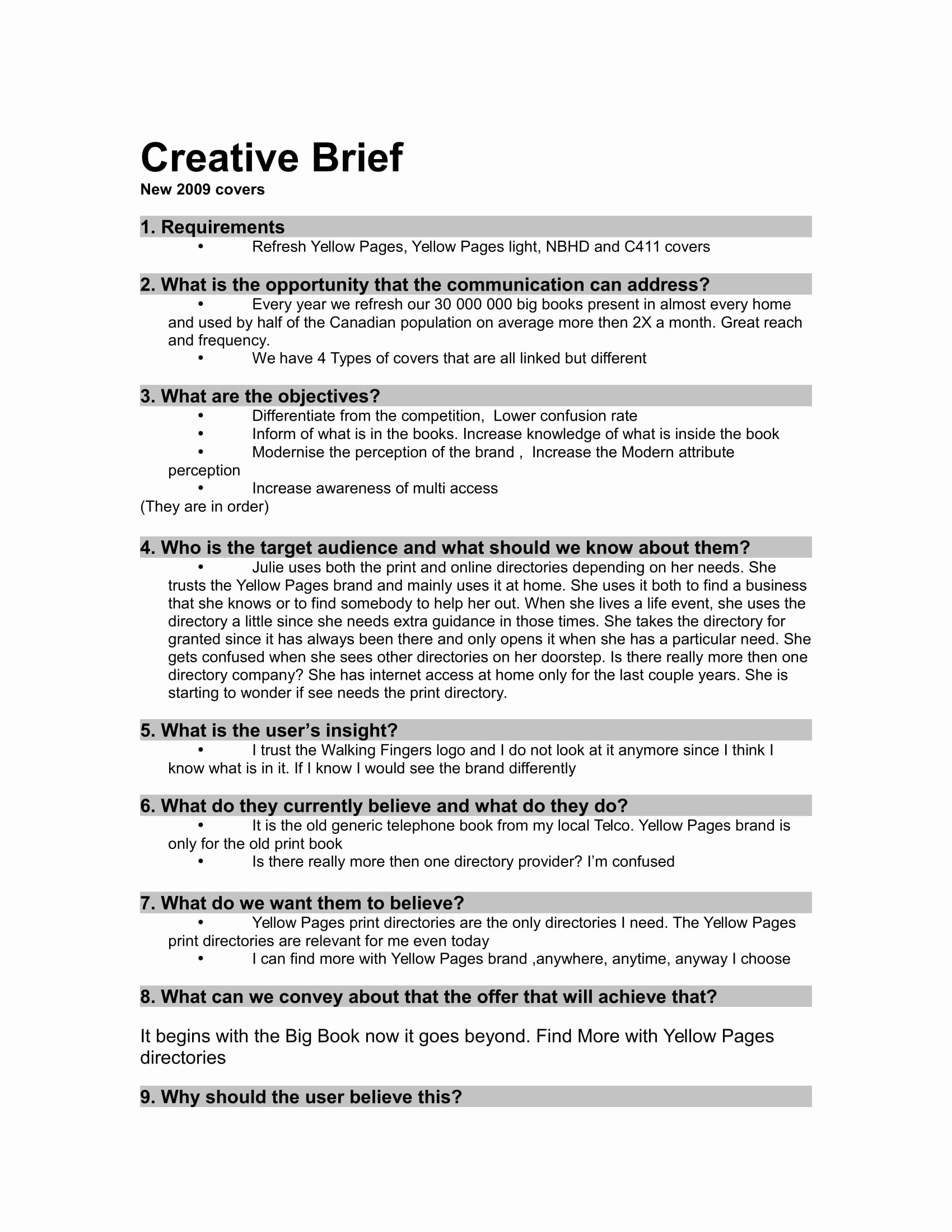 Creative Brief Sample Pdf Luxury 32 Free Creative Brief Templates and Examples Pdf Doc