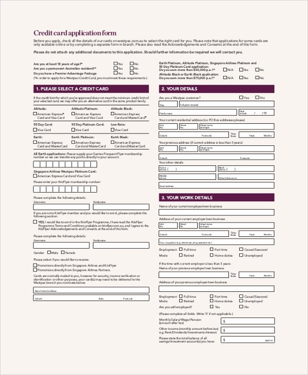 Credit Application form Pdf Awesome Sample Credit Application form 8 Documents In Pdf Word