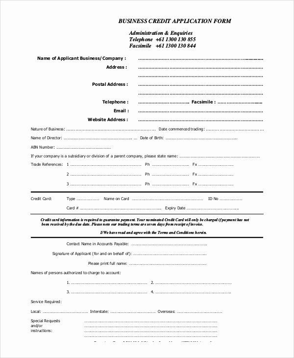 Credit Application form Pdf Beautiful Sample Credit Application 11 Examples In Pdf Word