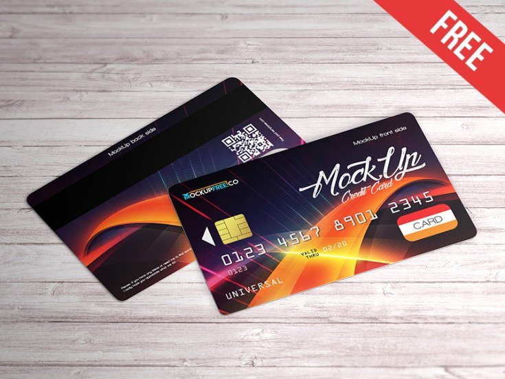 Credit Card Mockup Psd Fresh Realistic Credit Card Mockup Psd Free Download