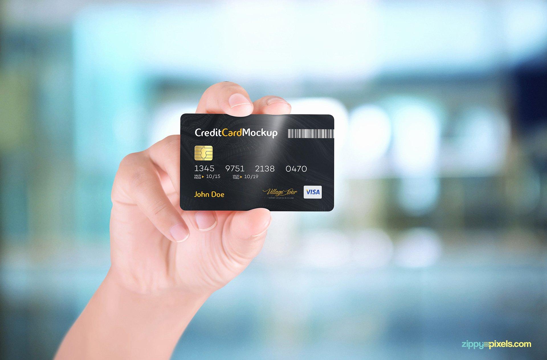 Credit Card Mockup Psd Inspirational Free Credit Card Mockup