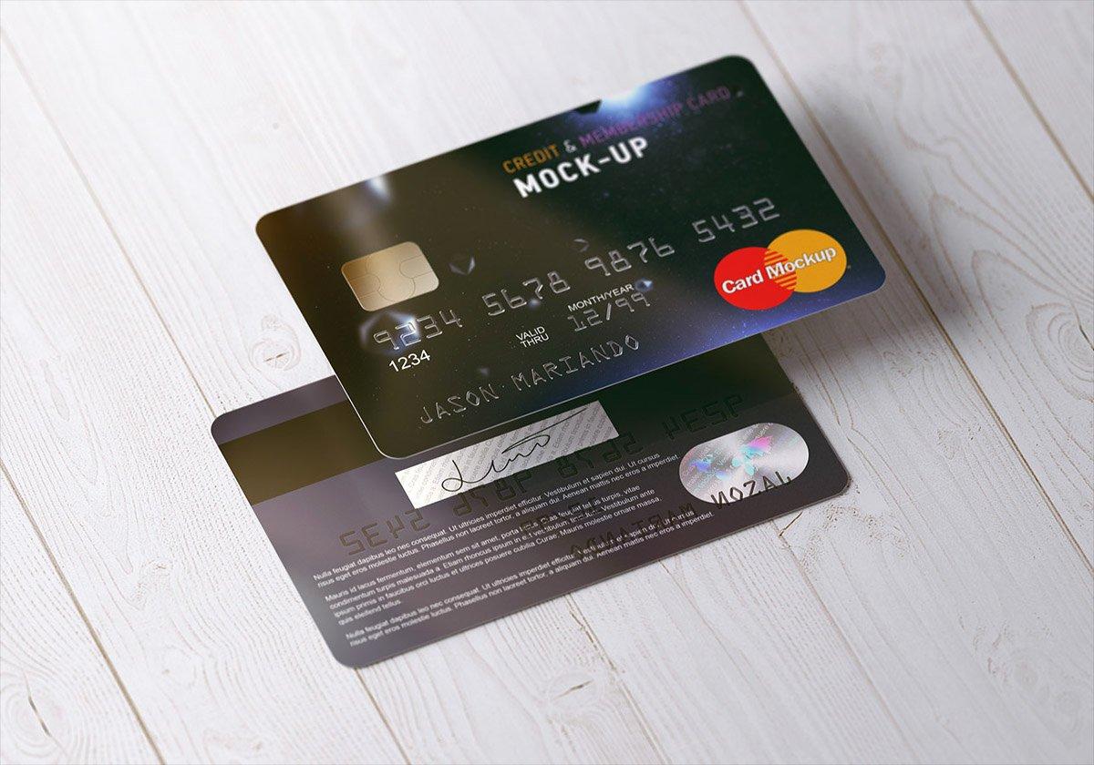 Credit Card Mockup Psd Inspirational Membership Bank Credit Card Mock Up On Behance