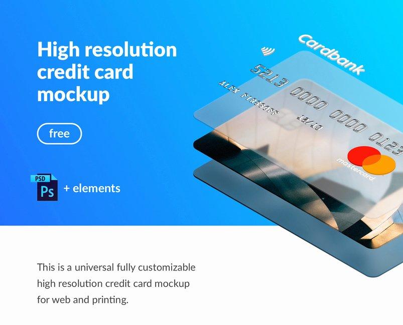 Credit Card Mockup Psd Luxury 50 Latest High Quality Psd Mockups for Designers 6 Designazure