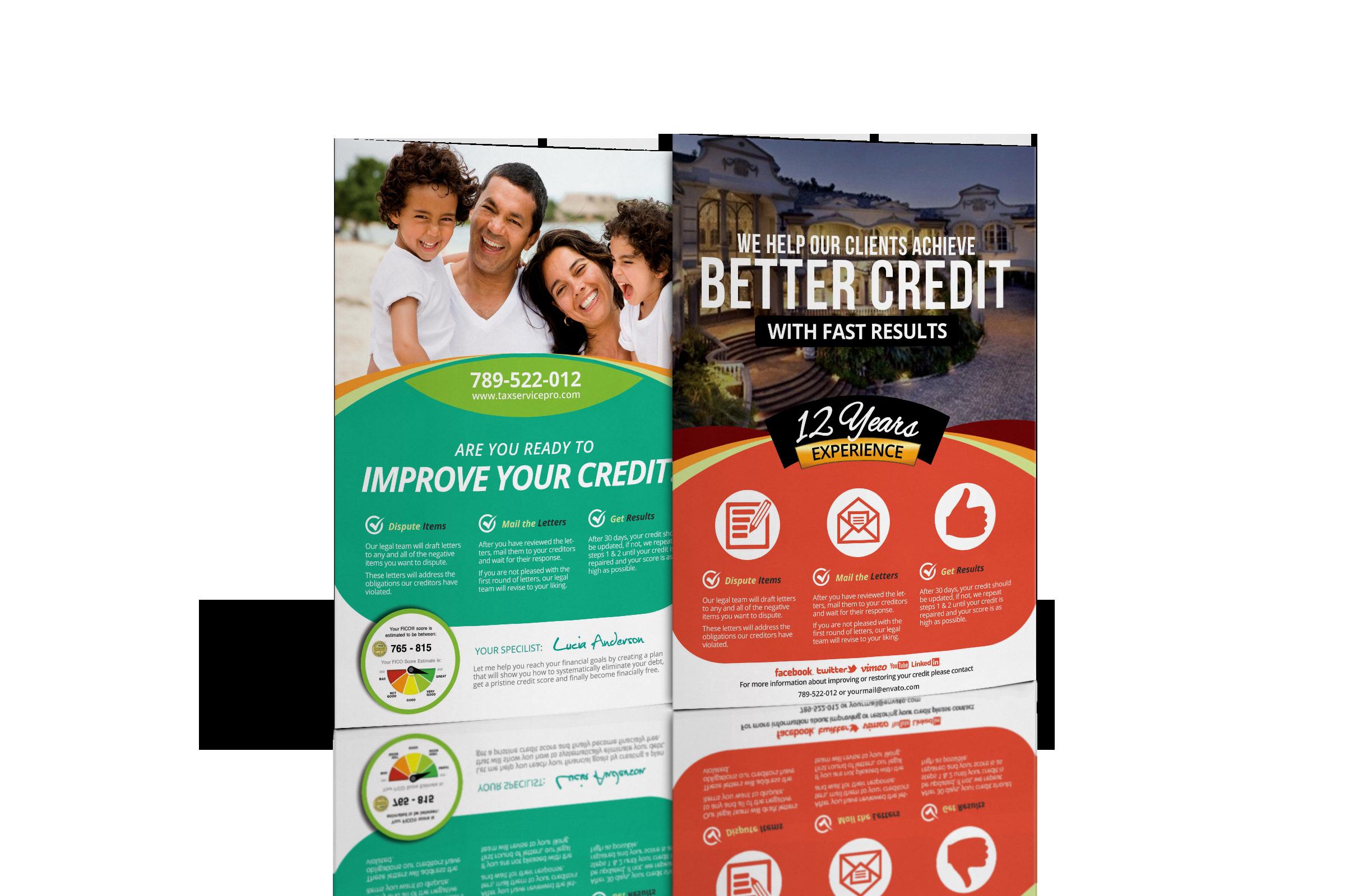 Credit Repair Flyer Template Beautiful Credit Repair Flyer Bundle Ready to Wake Up