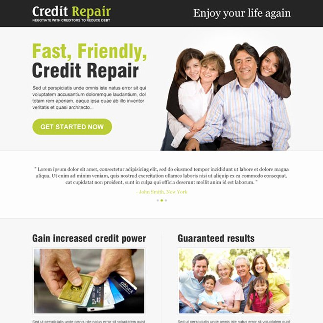 Credit Repair Flyer Template Best Of Landing Page Design Templates for Lead Gen Business Marketing Conversion Page 51