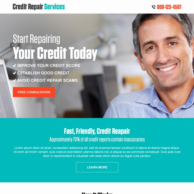 Credit Repair Flyer Template Unique Landing Page Design Templates to Improve Your Online Presence