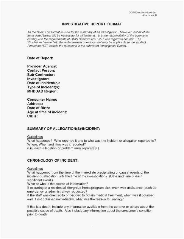 Crime Scene Report Example Awesome Free Collection 59 Investigation Report Template 2019