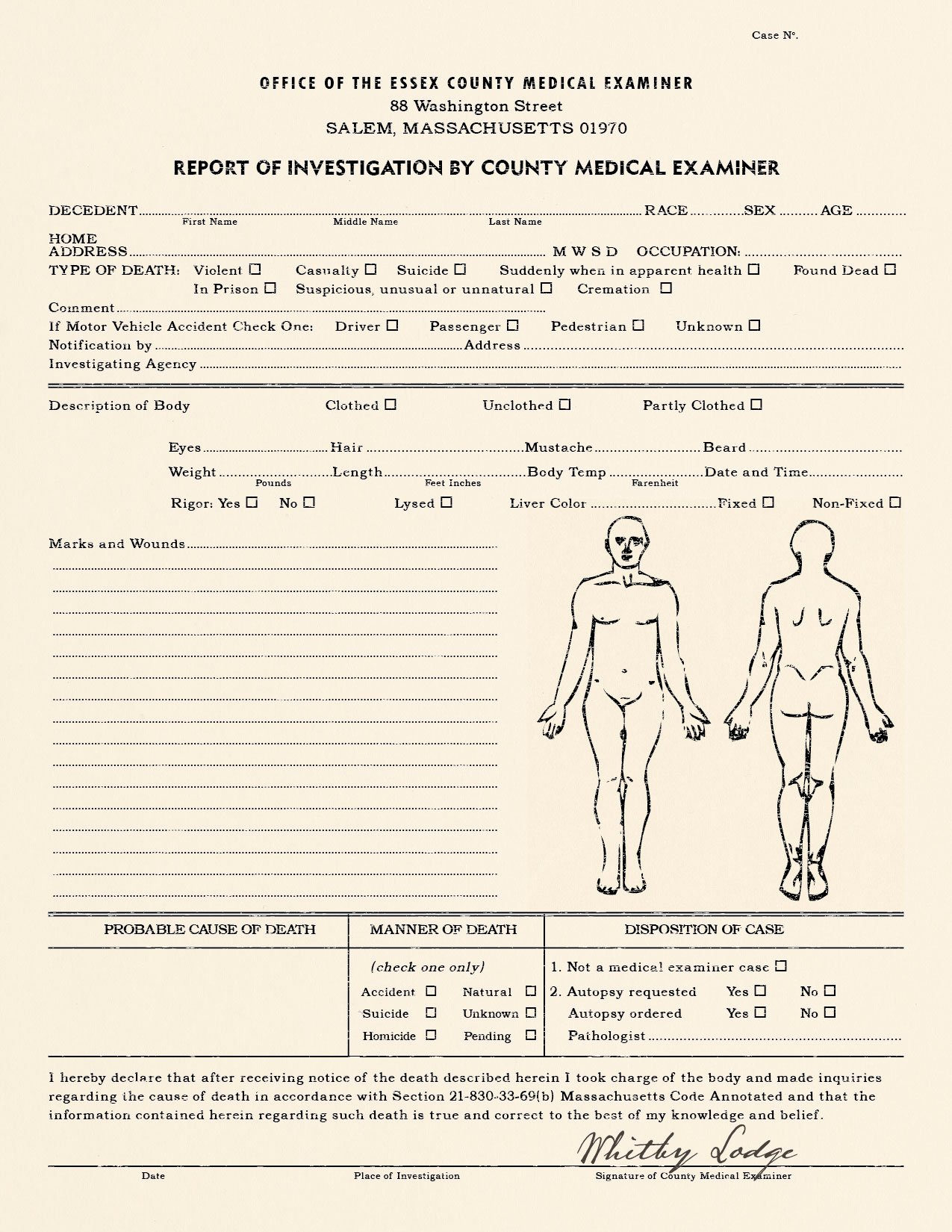 Crime Scene Report Example Luxury Realistic Blank Police Report Autopsy Report