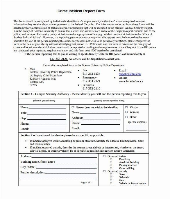 Crime Scene Report Example New 11 Sample Crime Reports Pdf Word