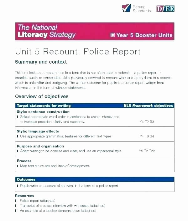 Crime Scene Report Template Luxury Police Investigation Report Template