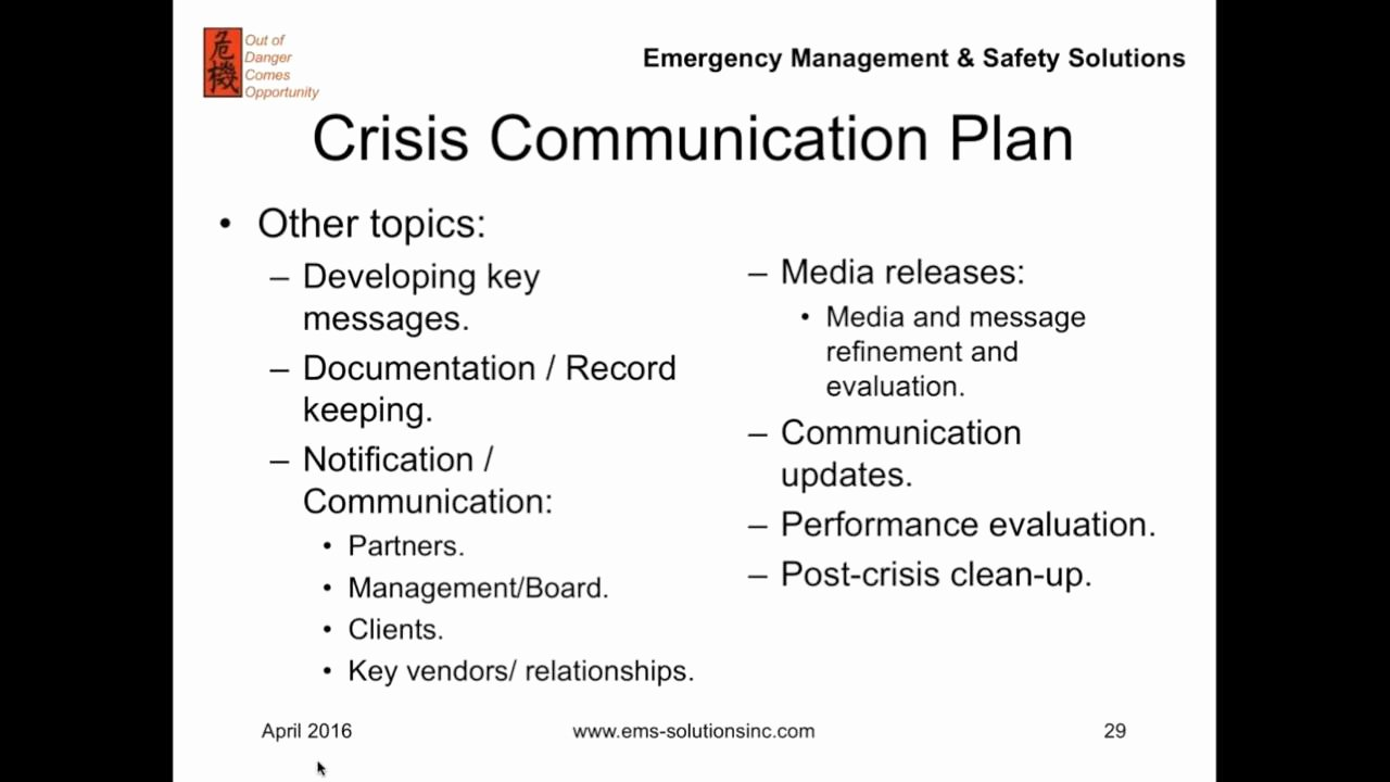 Crisis Management Plan Examples Awesome Improving Disaster and Crisis Management What is A Munication Plan