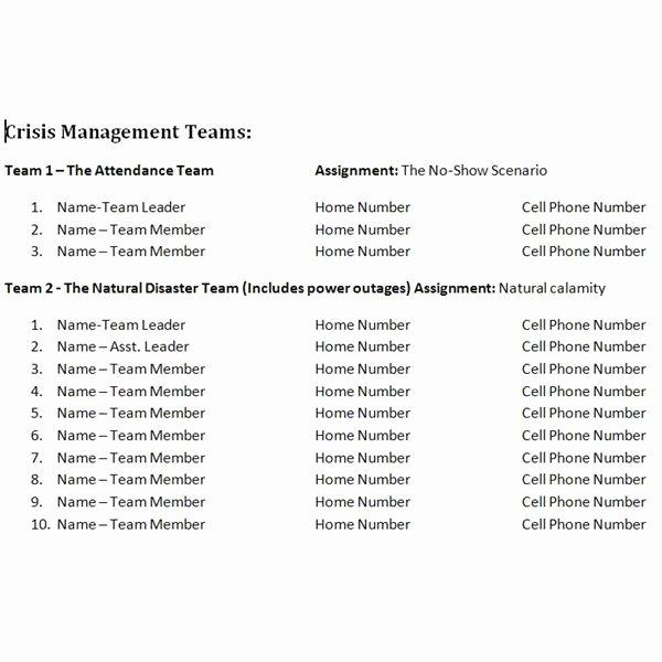 Crisis Management Plan Examples Beautiful Study Of A Crisis Management Plan Sample for A Wedding event