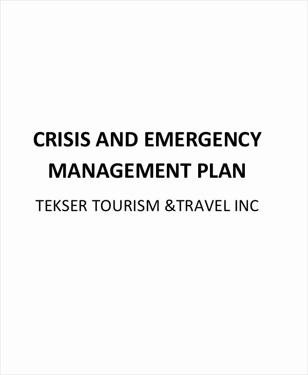 Crisis Management Plan Examples New 12 Crisis Management Plan Templates Sample Word Google Docs Apple Pages Example format