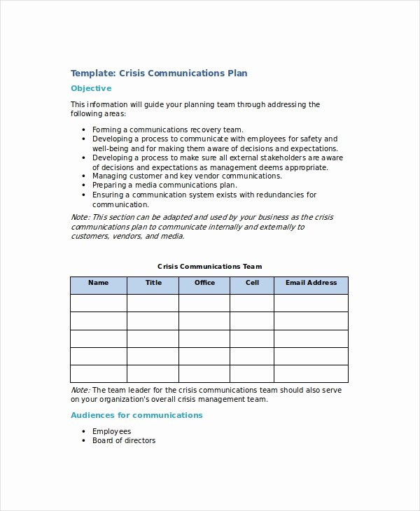 Crisis Management Plan Examples New Crisis Plan Template 10 Word Pdf Google Docs Apple Pages Documents Download
