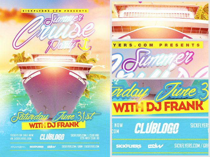 Cruise Flyer Template Free Awesome Summer Cruise Party Flyer Template Flyerheroes