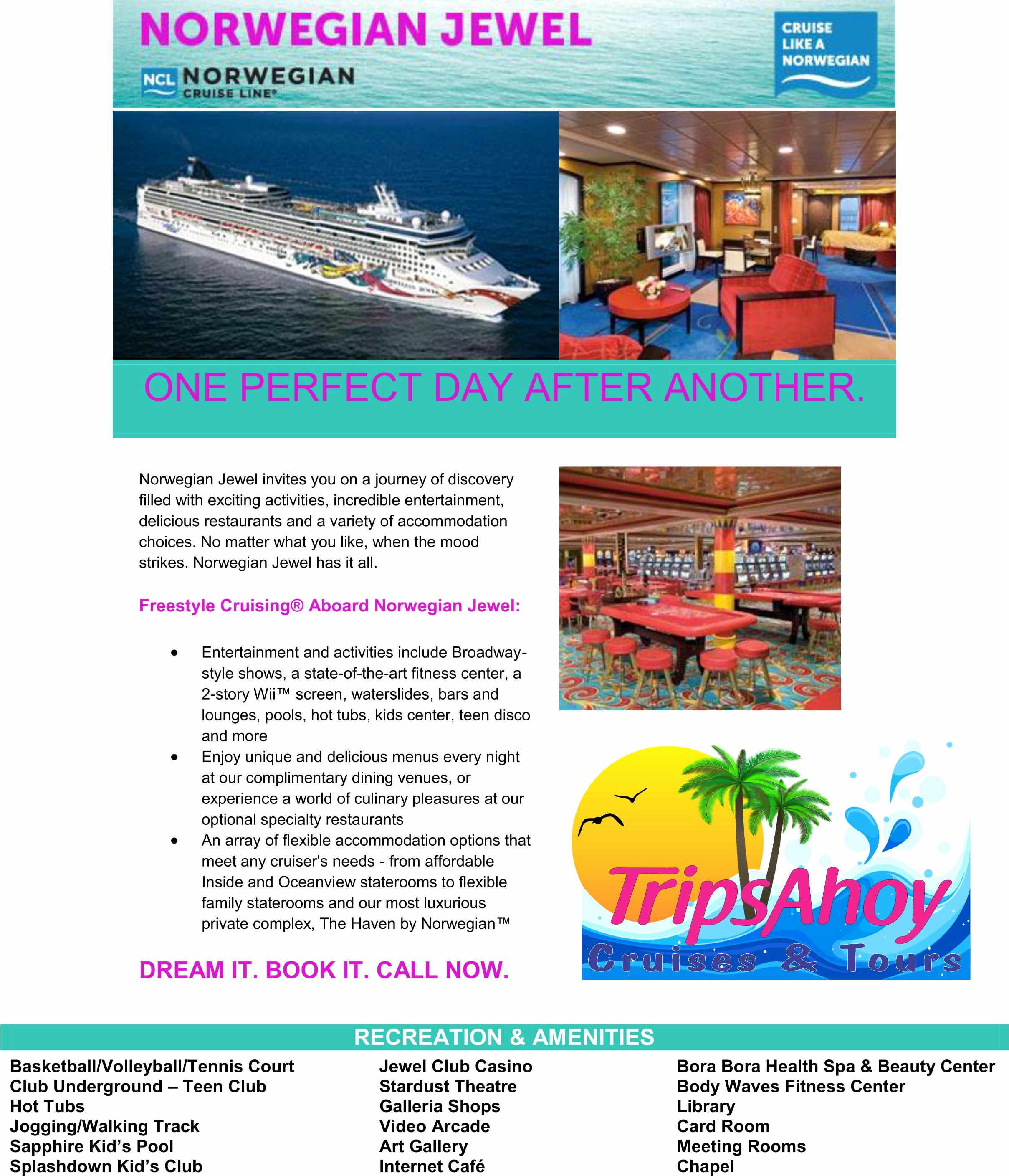 Cruise Flyer Template Free Beautiful norwegian Jewel