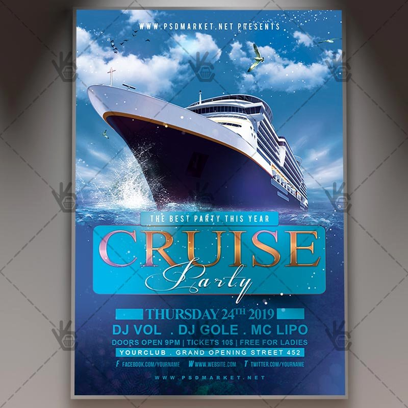 Cruise Flyer Template Free Elegant Download Cruise Party Night Flyer Psd Template