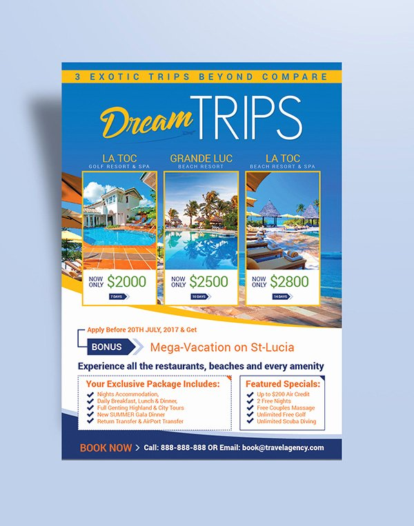 Cruise Flyer Template Free Elegant Free Travel Agency & Vacation Flyer Design Template