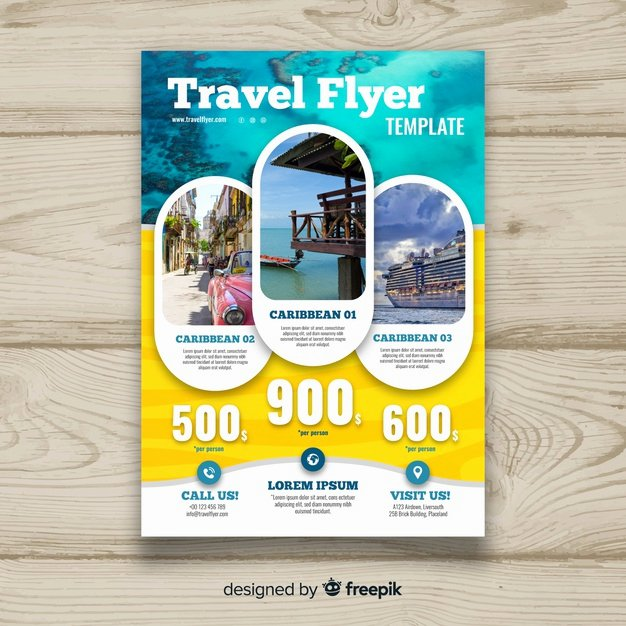 Cruise Flyer Template Free Elegant Travel Flyer Template Vector