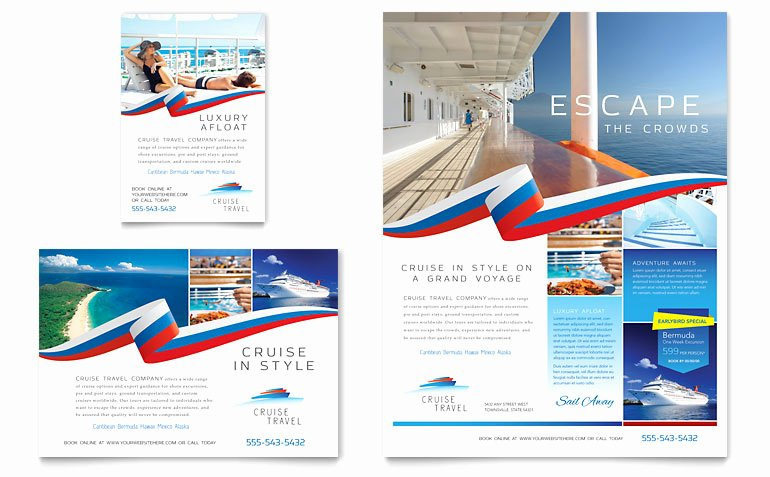 Cruise Flyer Template Free Fresh Cruise Travel Flyer & Ad Template Word & Publisher
