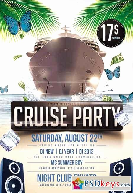 Cruise Flyer Template Free Inspirational Cruise Party Flyer Psd Template Cover Free Download Shop Vector Stock Image