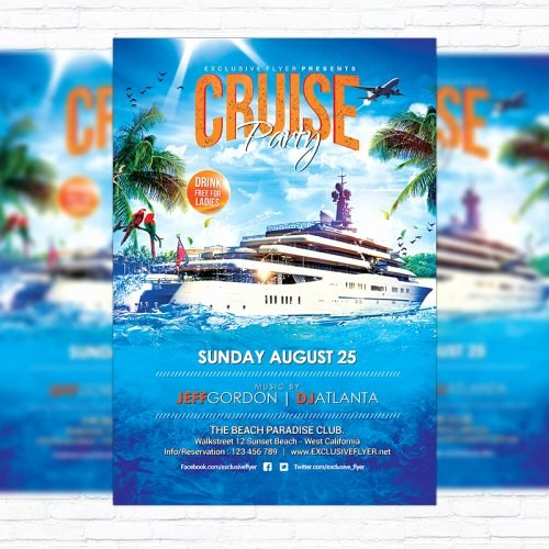 Cruise Flyer Template Free Lovely Cruise Party – Premium Flyer Template Cover Exclsiveflyer