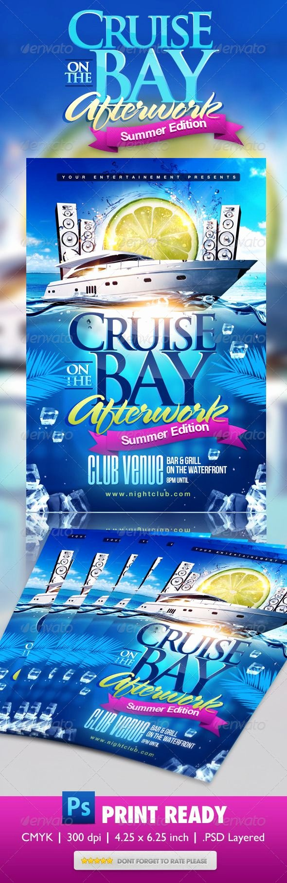 Cruise Flyer Template Free Lovely Psd Summer Boat Cruise Party Flyer Template • Ly Available Here