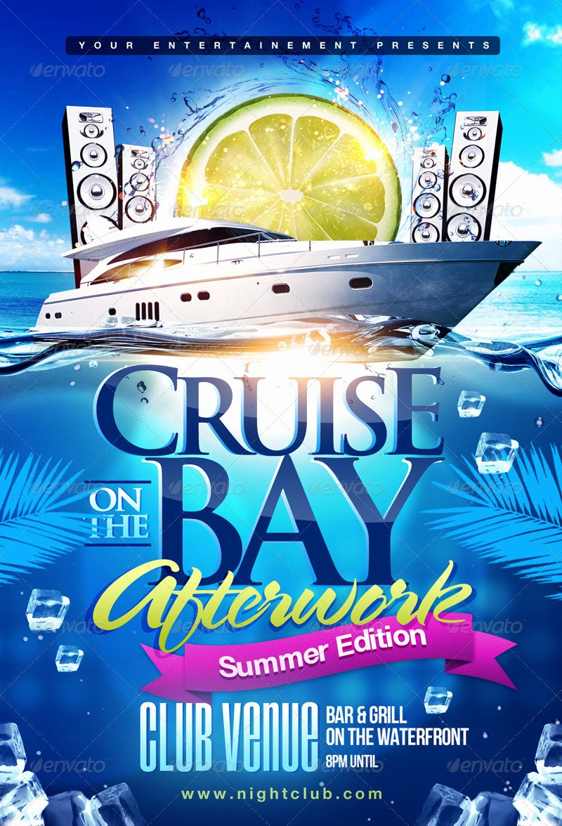 Cruise Flyer Template Free Luxury Summer Boat Cruise Party Flyer by themediaroom