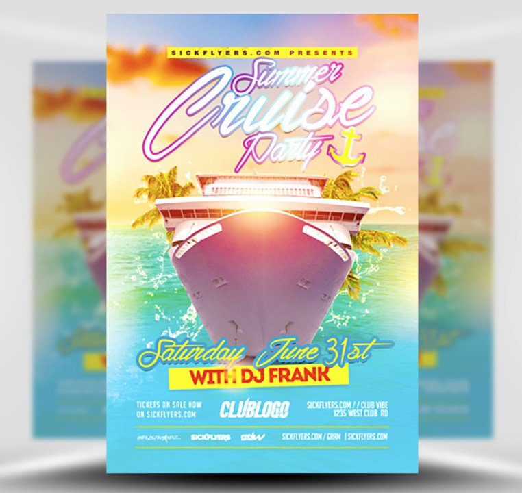 Cruise Flyer Template Free Luxury Summer Cruise Party Flyer Template Flyerheroes