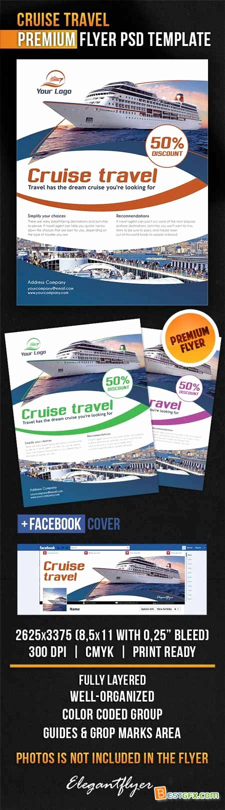 Cruise Flyer Template Free New Cruise Travel – Flyer Psd Template Cover Psd