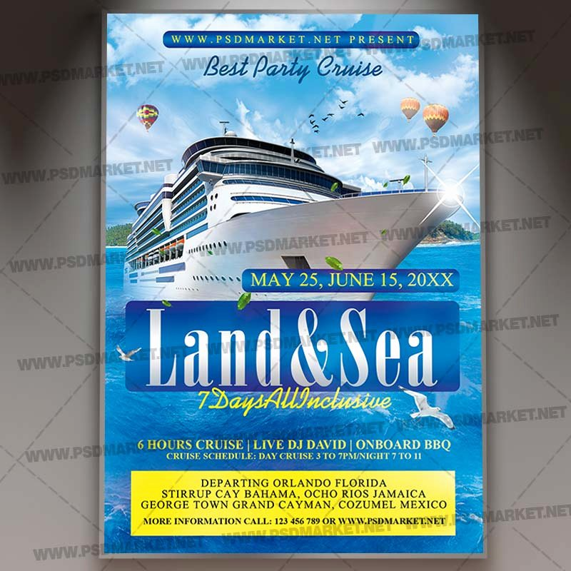 Cruise Flyer Template Free New Download Cruise Ship Flyer Psd Template